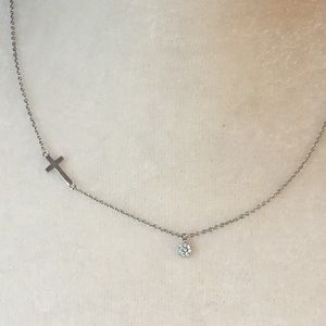 Dainty Necklace with Cross